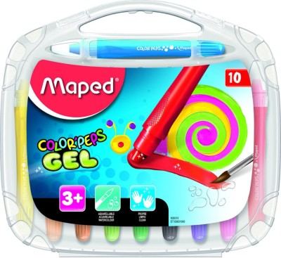 Maped Color'Peps Soft Water Color Gel Crayons 10 Color Set