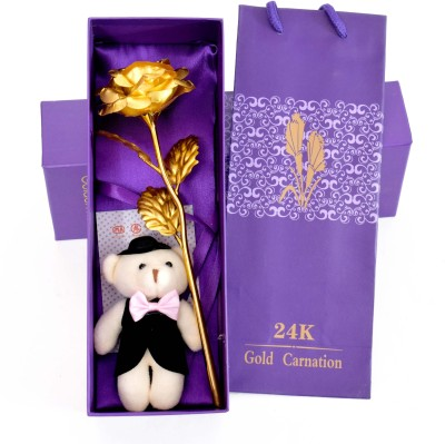 Skylofts Artificial Flower, Showpiece, Soft Toy Gift Set