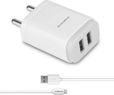 Ambrane AWC-22 2.1A Dual Port Fast Charger with Charge & Sync USB Cable Mobile Charger
