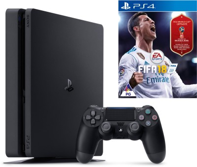 Sony PlayStation 4 (PS4) Slim 1 TB GB with Fifa 18 World Cup