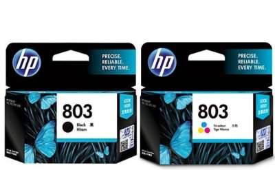 HP HP 803 combo pack Multi Color Ink (Magenta, Yellow, Cyan, Black) Multi Color Ink Cartridge