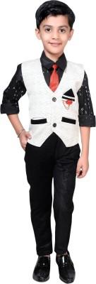 Ahhaaaa Boys Casual Shirt, Waistcoat and Pant Set