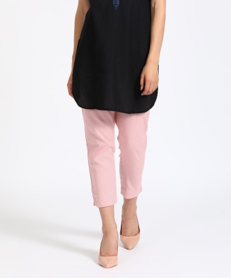 Aurelia Slim Fit Women's Pink Trousers