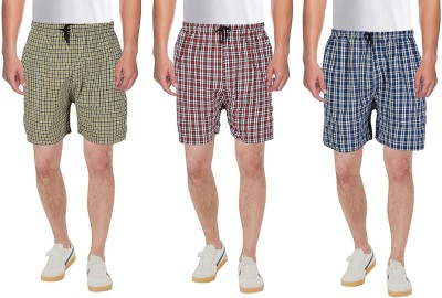RiverHill Checkered Men Multicolor Boxer Shorts