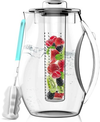 InstaCuppa Fruit Infuser Water Pitcher and Cold Brew Tea Maker (2700mL) Low-Calorie, Healthy Drink Maker | Tea, Lemonade, Fresh Herbs | Removable Infusing Core | BPA-Free Kitchen Drinkware Personal Coffee Maker