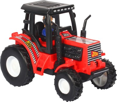 Shinsei Pull Back Tractor | No Battery No Remote | Miniature Scaled Models | Dinky Cars | - Red Colour