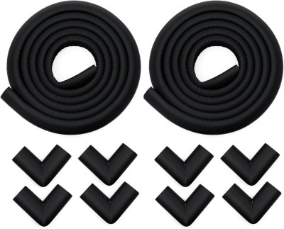 Store2508 Child Safety Strip Cushion & Corner Guards With Strong Fibreglass Tape For Baby Safety Child Proofing (Black)