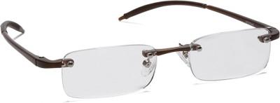 Titan Rimless (+1.75) Rectangle Reading Glasses