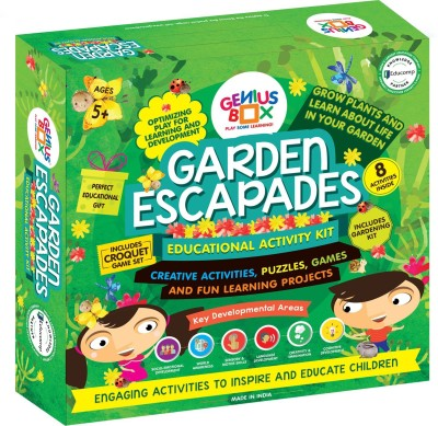 Genius Box Learning and Educational Toys for Children: Garden Escapades Activity Kit / Educational Kit / Learning Toy / STEM