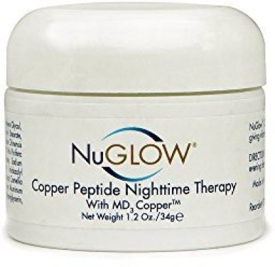 NuGlow Skincare Copper Peptide Nighttime Therapy With Md Copper