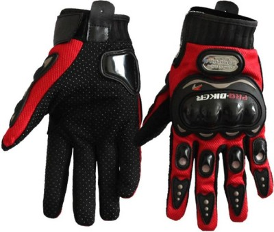 Astyler Pro Biker Riding Gloves Pair Red Diving Gloves (L, Red)