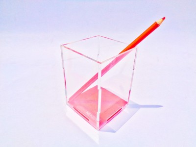 Nekbal 1 Compartments Acrylic Pen Stand
