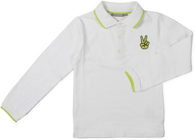 Fingers Boys & Girls Solid Cotton T Shirt
