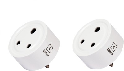 EMBox WiFi Smart Plug Outlet Compatible with Amazon Alexa Google Home IFTTT,No Hub Required,ETL and FCC Listed WiFi Enabled Remote Control Smart Socket, Indian Standard - Pack 0f 2