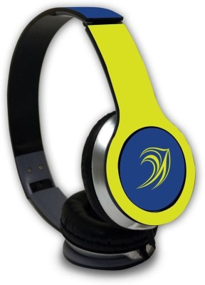 Macmerise DD Logo Hues - Wave Wired On Ear Headphones Wired Headset with Mic