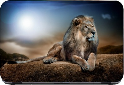 Flipkart SmartBuy lion watching art print 3m or avery imported vinyl with lamination Laptop Decal 15.6