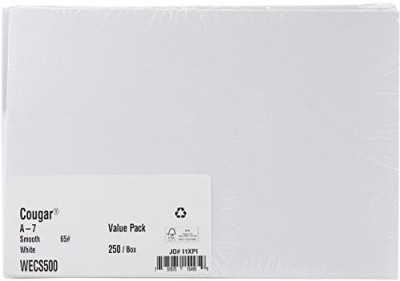LEADER PAPER PRODUCTS Greeting Cards And Envelopes 5-Inch By 7-Inch 50 Sets/Pkg, White