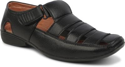 Zixer Men Black Sandals