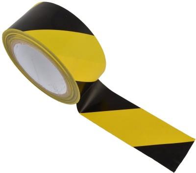 True-Ally Yellow / black Zebra Floor Marking Tape 3 inch / 72mm x 25 mtr Adhesive