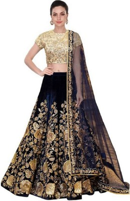 S.B Creation Embroidered Semi Stitched Lehenga, Choli and Dupatta Set