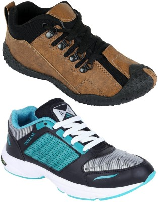 Chevit Combo Pack of 2 Sports Shoes (Running Shoes) Casuals For Men