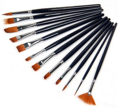 RIANZ 12 Brushes Set Artist Painting Brushes Set, Paint Brush