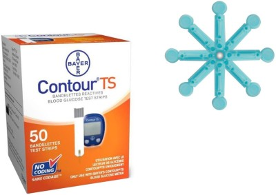 Bayer Contour Glucometer 50 Strips with 50 lancet combo Health Care Appliance Combo