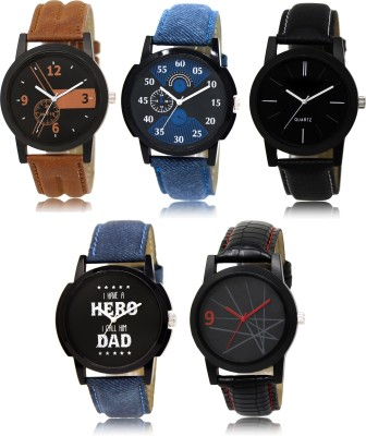 ADK LR-12578 latest Multicolor set of 5 For Men and Boys Watch  - For Men