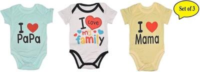 Baby Bucket Romper For Girl's Self Design Cotton
