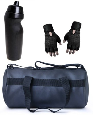 Vellora High Quality Gym Bag, Sipper Penguin And Gym Glove With Wrist Support Combo Gym & Fitness Kit