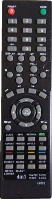 LipiWorld 4 in 1 Universal Remote Control V-MT22 S-2GD V-2BG S-2GG Compatible for VIDEOCON and SANSUI LED LCD Remote Controller