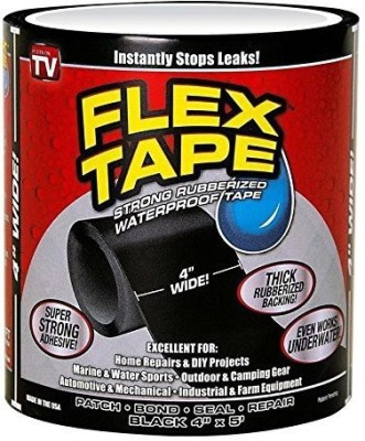 ZURU BUNCH Bunch Home Soul Flex Tape Instantly Stops Leaks Black Color 4Inch X 5 Feet Adhesive