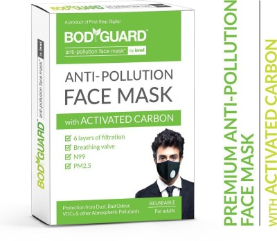 BodyGuard Reusable Anti Pollution Mask with Activated Carbon, N99 + PM2.5 For Men And Women (Pack of 1) FSP124 Mask