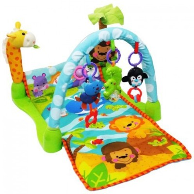 N&M Rainforest Music Baby Play Soft Mat Activity Play Gym Toy