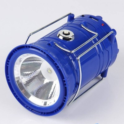 EWELL Led Solar Emergency Light Lantern LED Torch Flashlight|| Dual Power Recharger Solar & AC Electricity||Portatable Hand Lamp with Hooks ||Charging Cable with Indicator|| 6 LED Lights||USB Mobile Charging||LED Lantern For Home or Travelling||So Best and Quality Compatible with all smart phones Emergency Light (Blue) Emergency Light