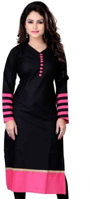 FabTag  - The Style Story Women's Solid Straight Kurta