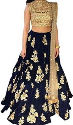 SIXTEENCREATION Embroidered Semi Stitched Lehenga, Choli and Dupatta Set