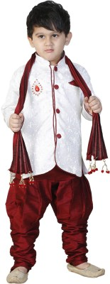 stylokids Boys Festive & Party Kurta, Pyjama & Dupatta Set