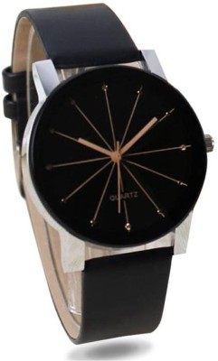 Talgo Hot Selling Crystal 3D Glass Studded Classy Black Top Trending Analog Watch  - For Women