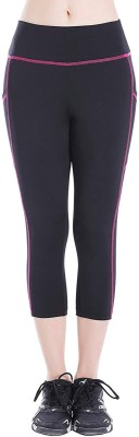 Blinkin Solid Women Black, Pink Tights