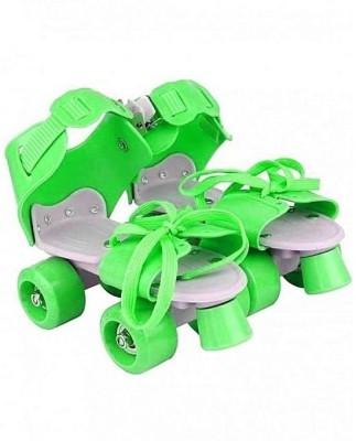 Aurion KIDS-ROLLER-SKATES(GREEN) Quad Roller Skates - Size 5-11 UK
