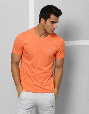 Metronaut Athleisure Solid Men's Round Neck Orange T-Shirt