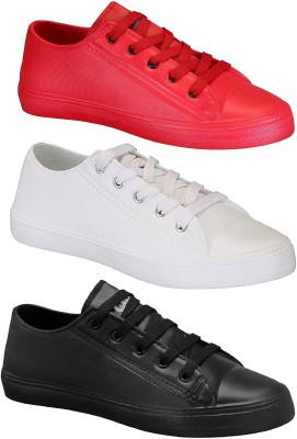 Chevit Happy Pack of 3 Casual Shoes Sneakers For Men