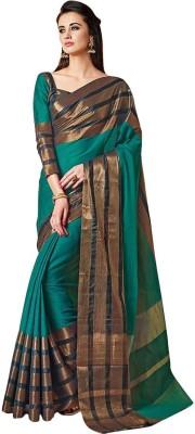 FabTag - BAPS Striped Bollywood Cotton Silk Saree