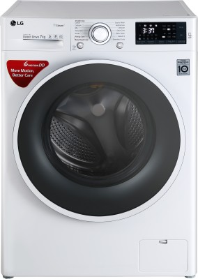 LG 7 kg Inverter Fully Automatic Front Load Washing Machine with Wifi White