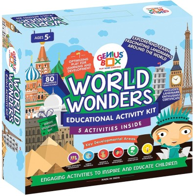 Genius Box Learning and Educational Toys for Children: World Wonders Activity Kit / Educational Kit / Learning Toy / STEM