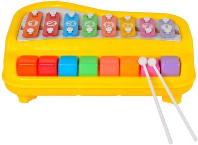 Zest 4 Toyz 2 In 1 Piano Xylophone for Kids, Educational Musical Instruments Toyset for Babies, Toddlers Preschoolers, 8 Key Scales in Clear and Crisp Tones with Music Cards Songbook