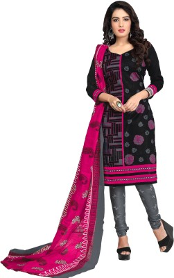 Drapes Cotton Graphic Print Salwar Suit Dupatta Material