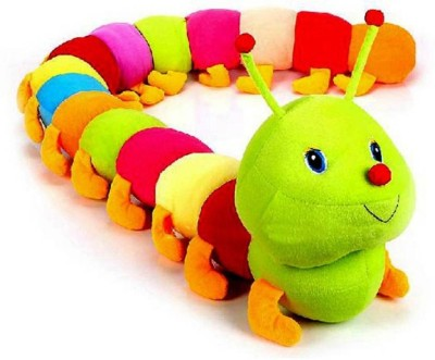 KBS Soft Toys Caterpillar Very Soft Toy & Very Beautiful High Quality For Someone Special Valentine & Birthday Gift ( Approx 55.6 Cm Multicolor )  - 55.6 cm