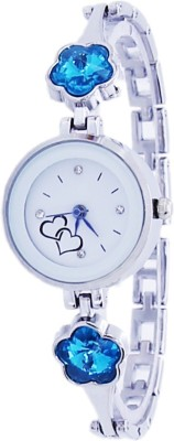 COSMIC SEA BLUE BLOSSOM FANCY FASHIONABLE DESIGNER BRACELET FANCY FASHIONABLE DESIGNER BRACELET beautiful collection women and ladies Watch  - For Girls